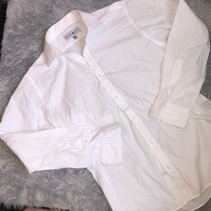 Beverly Hills Polo Club Womens White Button Up